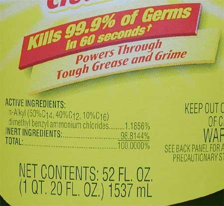 Lysol Toilet Bowl Cleaner Label