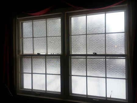 Bubble wrap as window insulation for Window insulation values