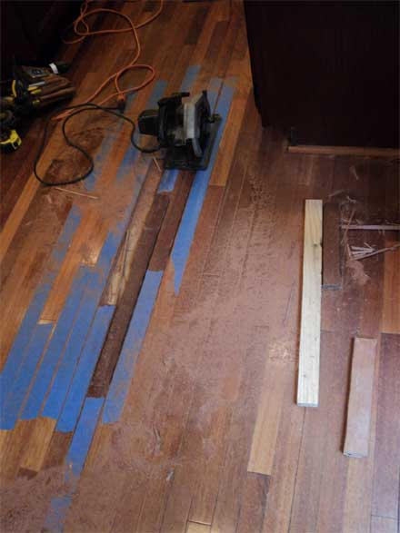 Replacing Hardwood Floor Boards ~ Replacing boards in a hardwood floor