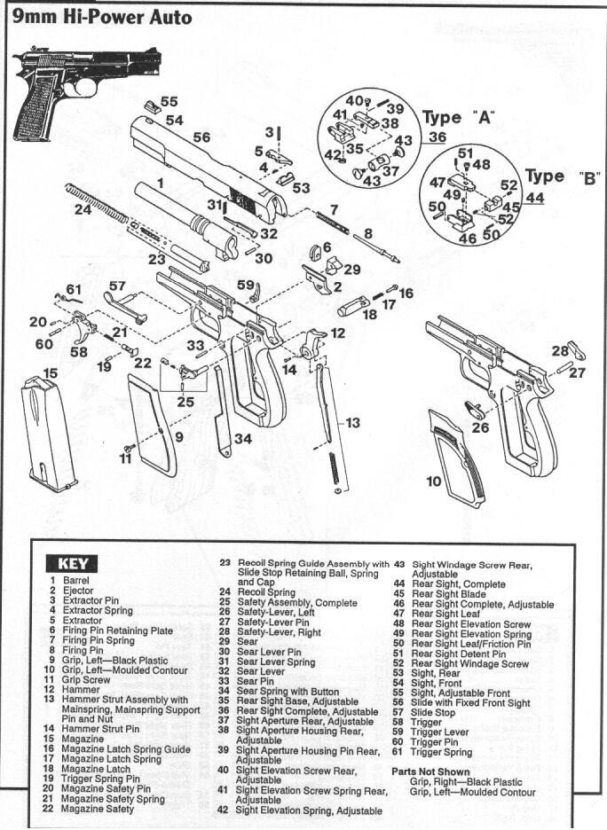 hi power  model p35  exploded drawing
