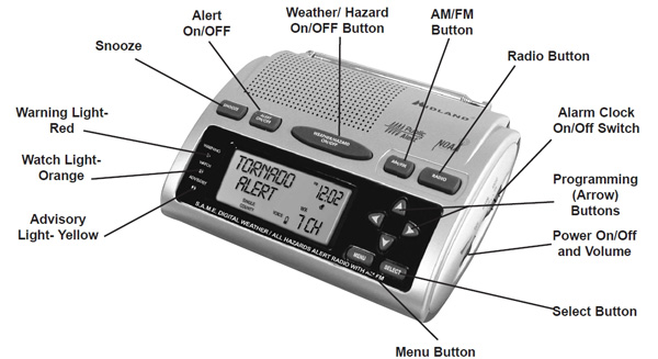 Midland noaa weather radio wr-300 manual.